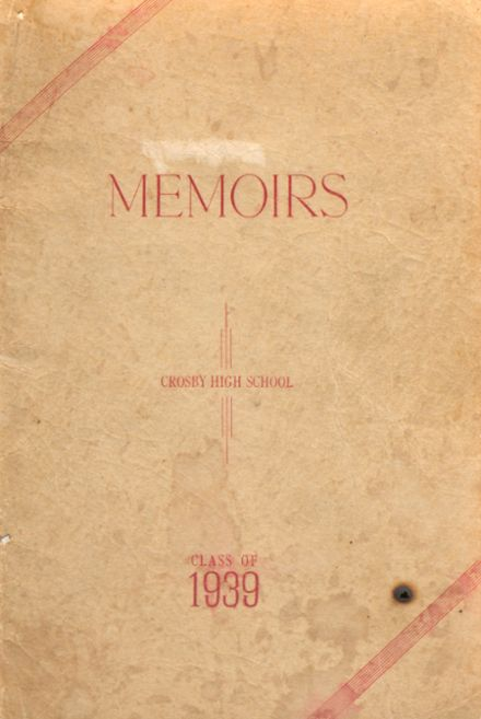 1939 Crosby High School Yearbook Cover