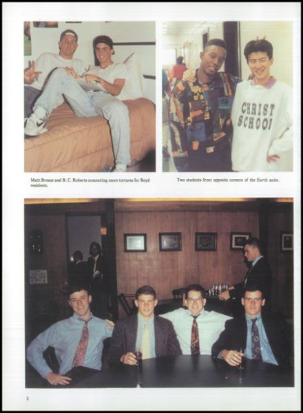 1993 Christ School Yearbook Page 6