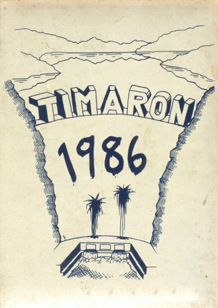 1986 Middleborough High School Yearbook Cover