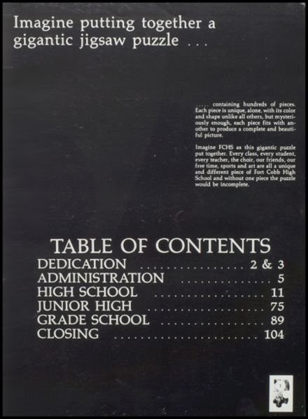 1984 Ft. Cobb High School Yearbook Page 5
