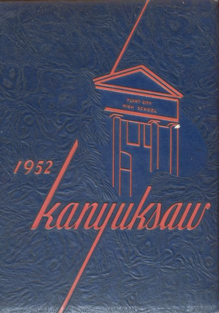 1952 Plant City High School Yearbook Cover