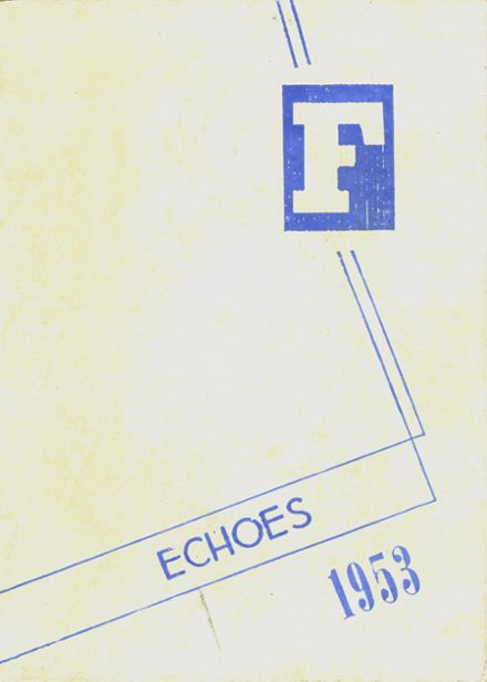 1953 Fillmore High School Yearbook Cover