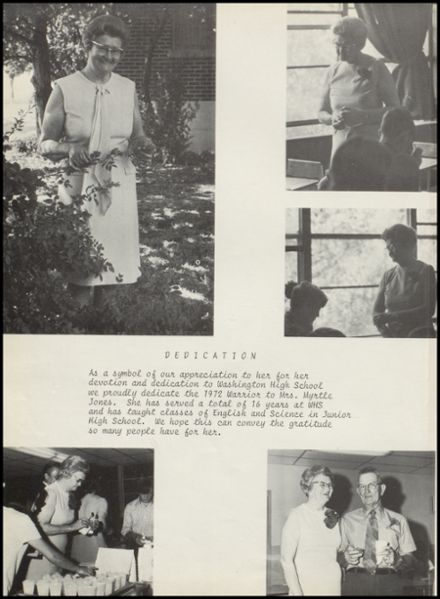 1972 Washington High School Yearbook Page 6