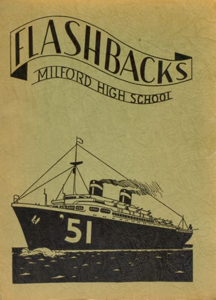 1951 Milford High School Yearbook Cover