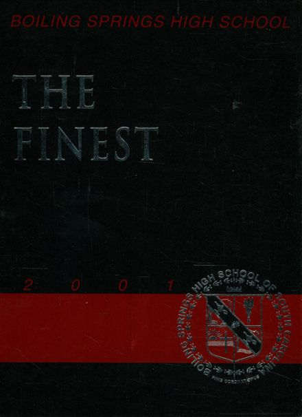 2001 Boiling Springs High School Yearbook Cover