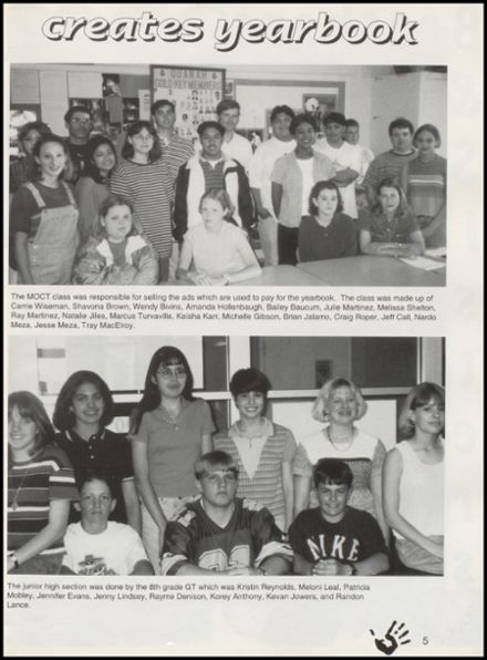 1997 Quanah High School Yearbook Page 9