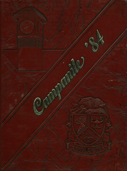 1984 Woodrow Wilson High School Yearbook Cover