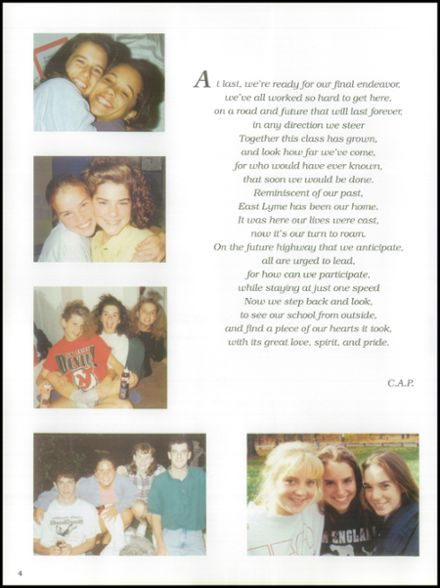 1995 East Lyme High School Yearbook Page 8