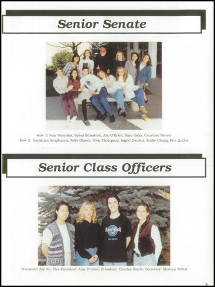 1995 East Lyme High School Yearbook Page 9
