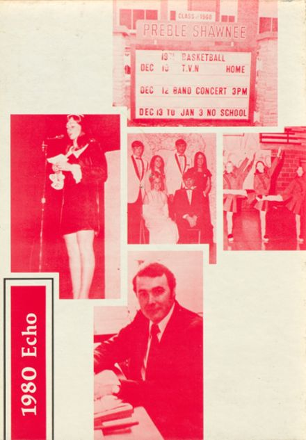 1980 Preble Shawnee High School Yearbook Cover