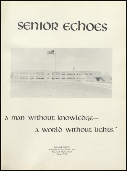 1954 Tecumseh High School Yearbook Page 5