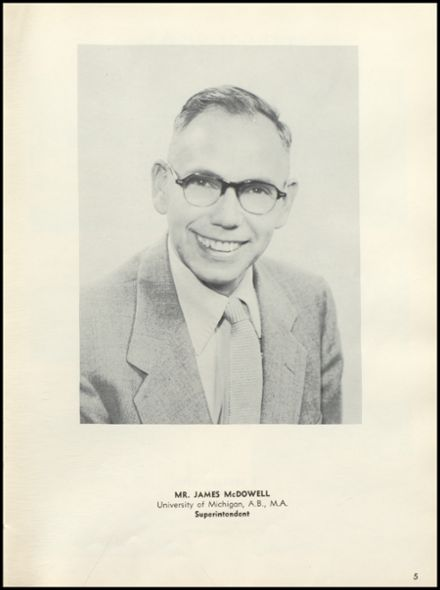1954 Tecumseh High School Yearbook Page 9