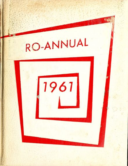 1961 Roann High School Yearbook Cover