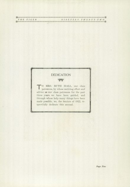 1922 Ripon High School Yearbook Page 9