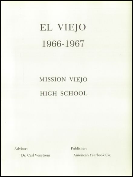 1967 Mission Viejo High School Yearbook Page 5