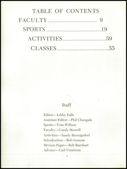 1967 Mission Viejo High School Yearbook Page 6