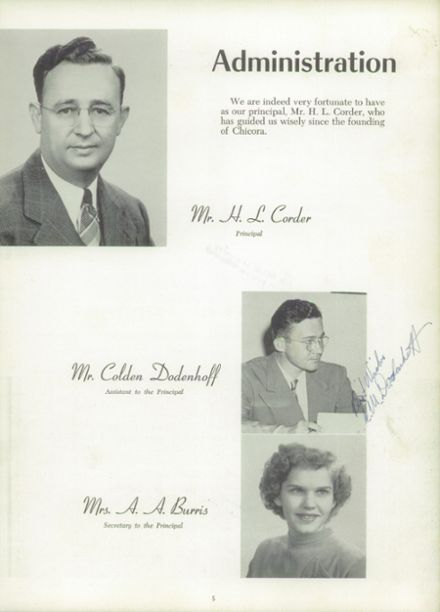 1951 Chicora High School Yearbook Page 9