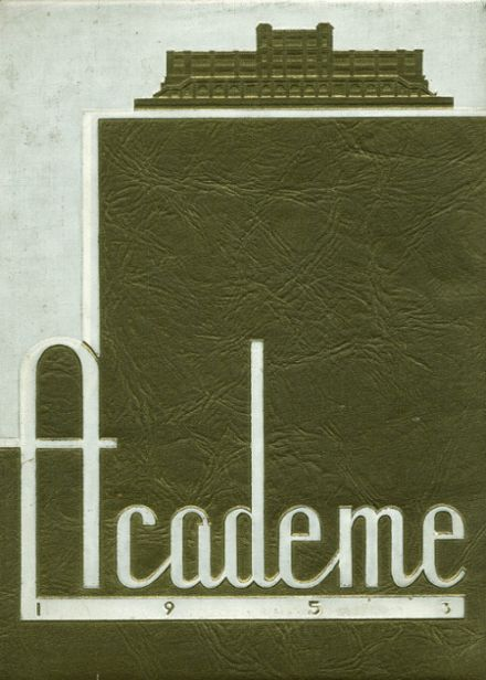 1953 Academy High School Yearbook Cover