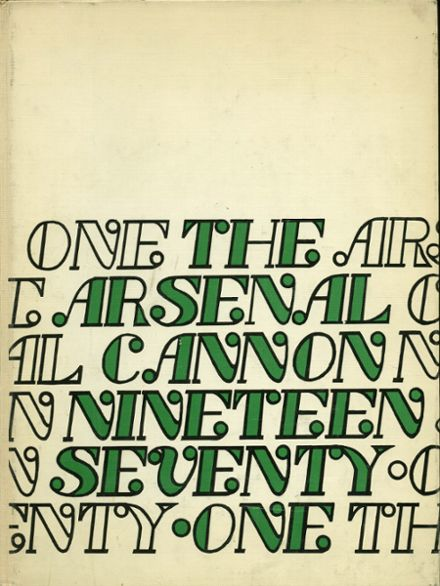 1971 Arsenal Technical High School 716 Yearbook Cover