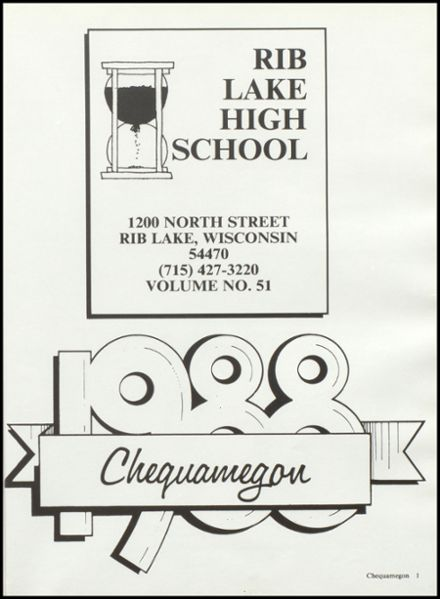 1988 Rib Lake High School Yearbook Page 5