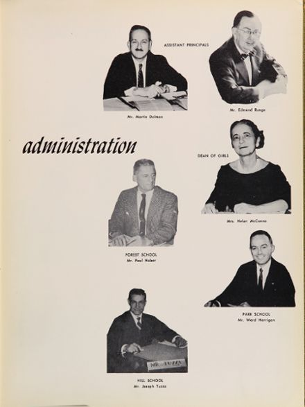 1958 Forest Hills High School Yearbook Page 9