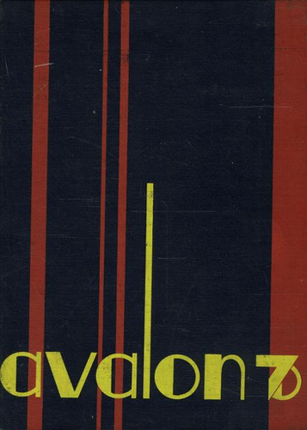 1970 Avalon High School Yearbook Cover