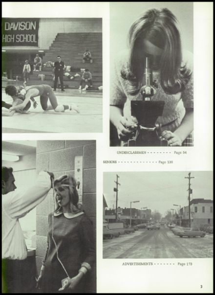 1969 Davison High School Yearbook Page 7