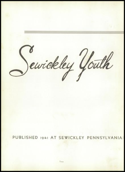 1941 Sewickley High School Yearbook Page 6