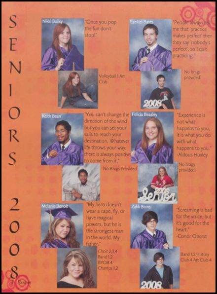 2008 Fountain Lake High School Yearbook Page 8