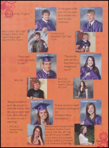 2008 Fountain Lake High School Yearbook Page 9