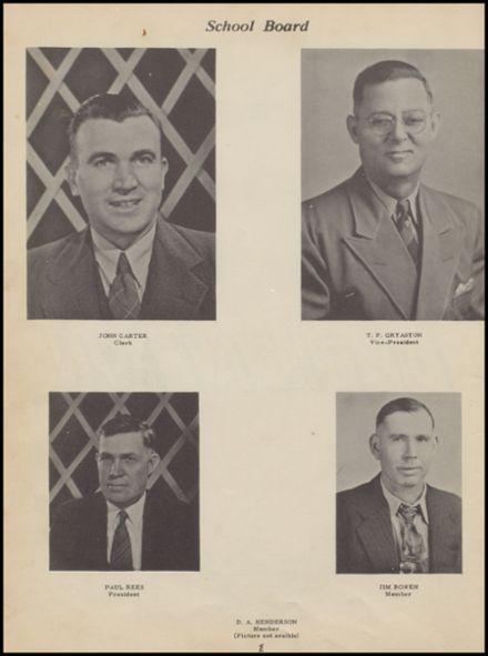 1950 Bokoshe High School Yearbook Page 6