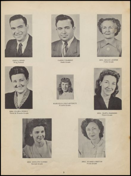 1950 Bokoshe High School Yearbook Page 9