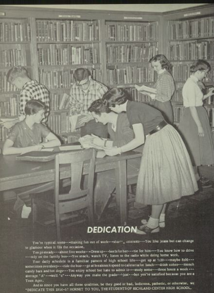 1957 Richland Center High School Yearbook Page 6