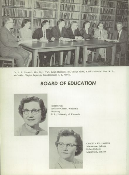 1957 Richland Center High School Yearbook Page 8