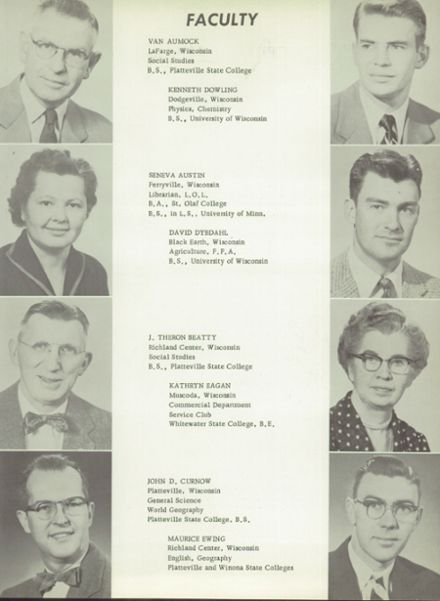 1957 Richland Center High School Yearbook Page 9