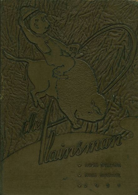1951 Strong High School Yearbook Cover