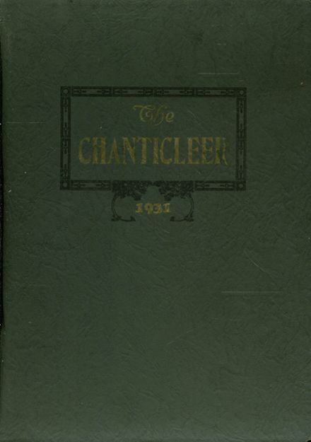 1931 Sumter County High School Yearbook Cover
