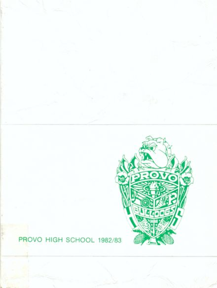 1983 Provo High School Yearbook Cover
