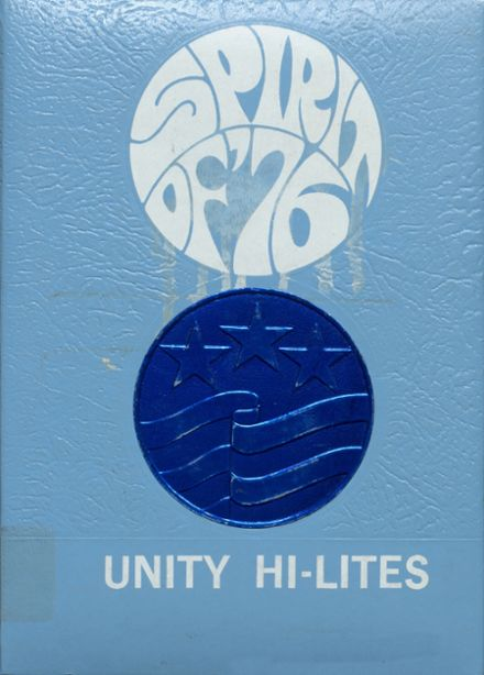 1976 Unity High School Yearbook Cover