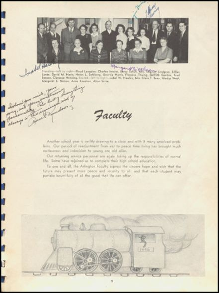 1946 Arlington High School Yearbook Page 9