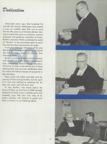 1959 Cretin High School Yearbook Page 9