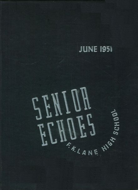 1951 Franklin K. Lane High School Yearbook Cover