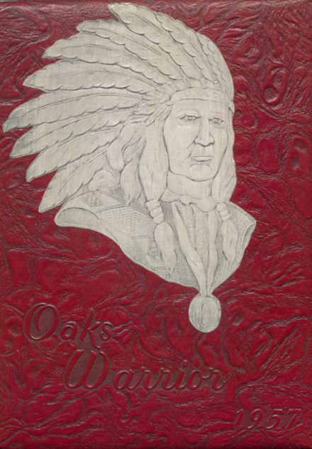 1957 Oaks-Mission High School Yearbook Cover
