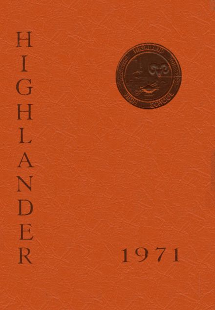 1971 Highland High School Yearbook Cover