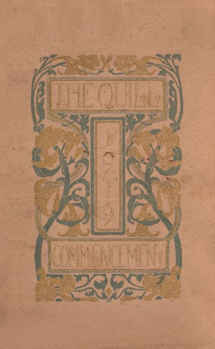 1919 East High School Yearbook Cover