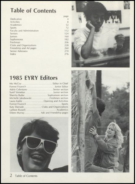 1985 High Point High School Yearbook Page 6