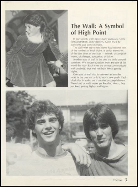 1985 High Point High School Yearbook Page 7