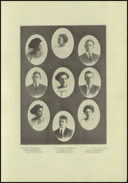 1911 Gilroy High School Yearbook Page 9
