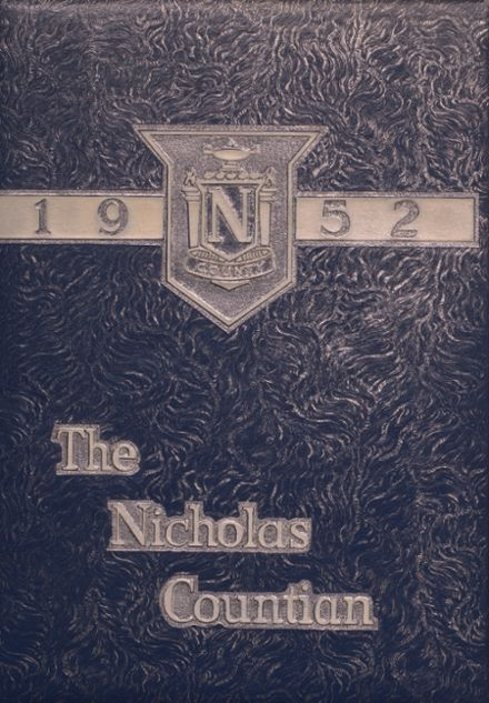 1952 Nicholas High School Yearbook Cover