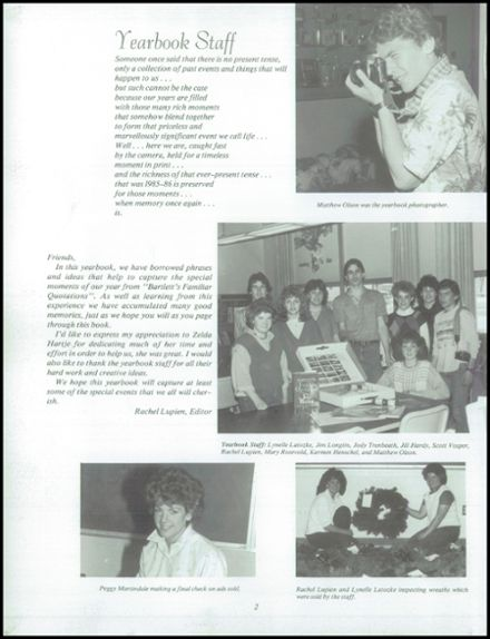 1986 Neche High School Yearbook Page 6